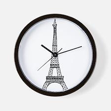 World famous Eiffel tower landmark Wall Clock