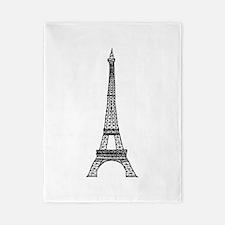World famous Eiffel tower landmark Twin Duvet