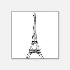 World famous Eiffel tower landmark Sticker