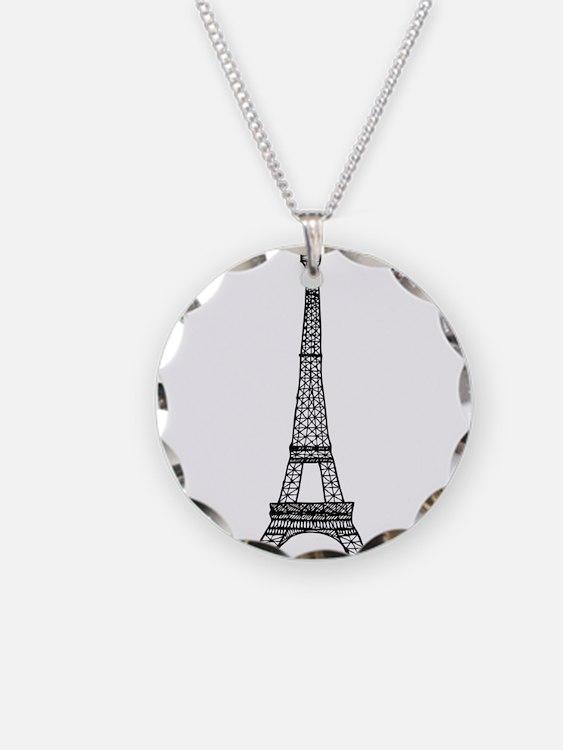 World famous Eiffel tower la Necklace