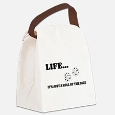 Life Dice Canvas Lunch Bag