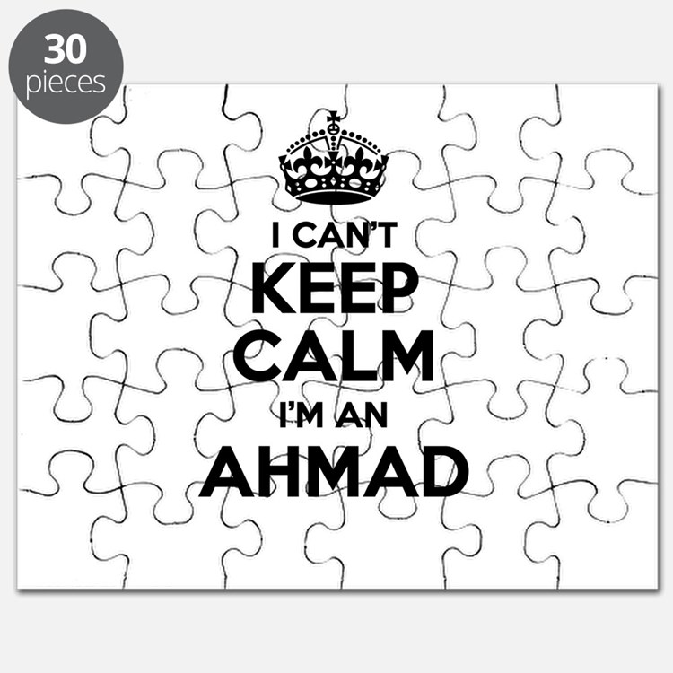 I can't keep calm Im AHMAD Puzzle
