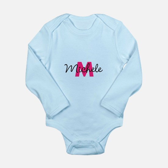 Personalize Initial, Name (pink) Body Suit