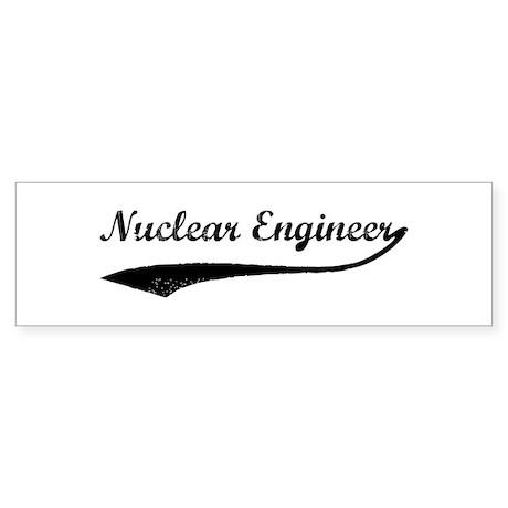 Nuclear Engineer (vintage) Bumper Sticker