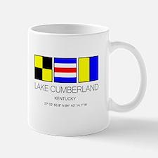 Lake Cumberland Kentucky Nautical Flag Mugs