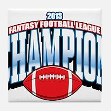 2013 Fantasy Football Champion Tile Coaster