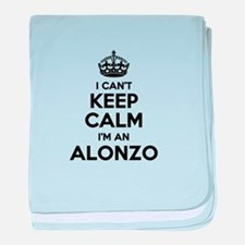 I can't keep calm Im ALONZO baby blanket