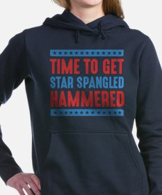 Get Star Spangled Hammered Women's Hooded Sweatshi