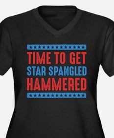 Get Star Spangled Hammered Plus Size T-Shirt