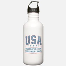 USA World War Champs Water Bottle
