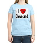 I Love Cleveland (Front) Women's Pink T-Shirt