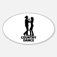 Country dance Sticker (Oval)