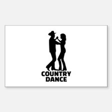Country dance Sticker (Rectangle)