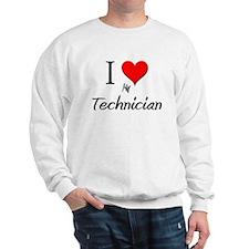 I Love My Technician Sweatshirt