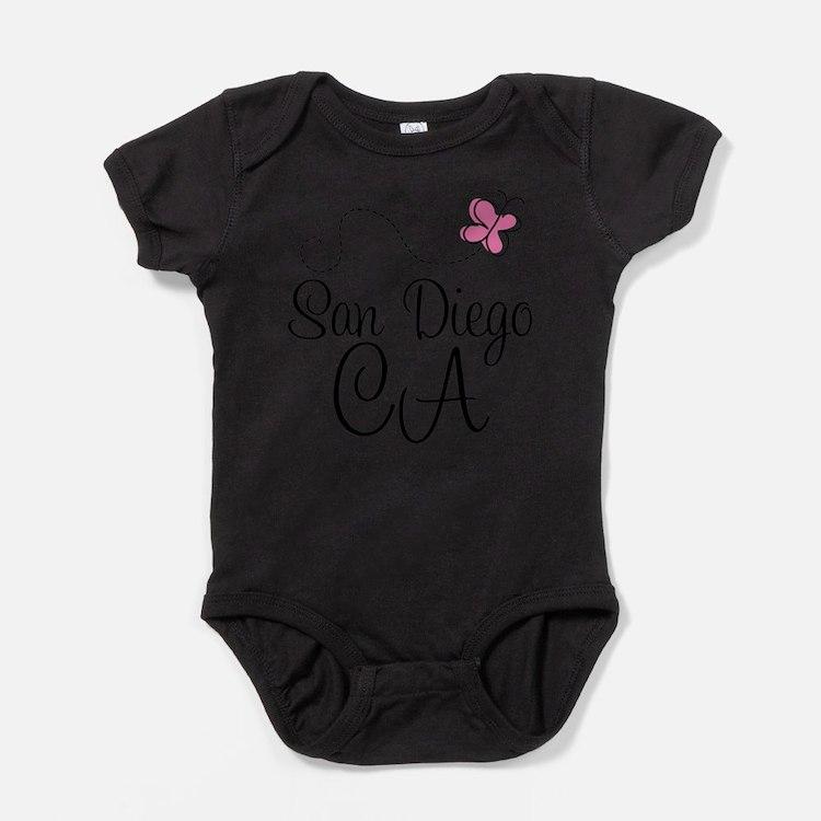 Cute San diego california Baby Bodysuit