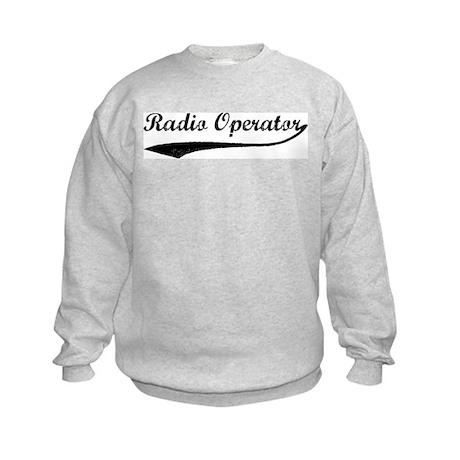 Radio Operator (vintage) Kids Sweatshirt