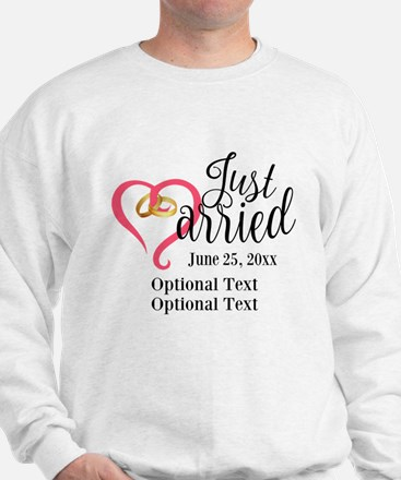 Just Married Custom Sweater