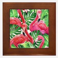 Flamingo Framed Tile