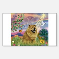 Cloud Angel & Chow Chow Rectangle Decal
