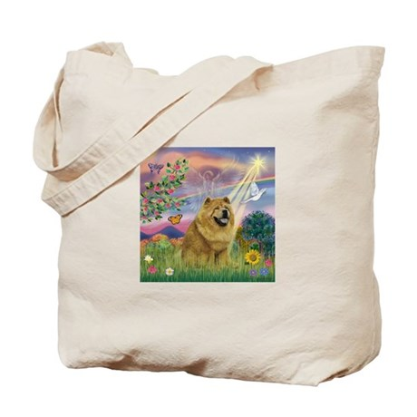 Cloud Angel & Chow Chow Tote Bag