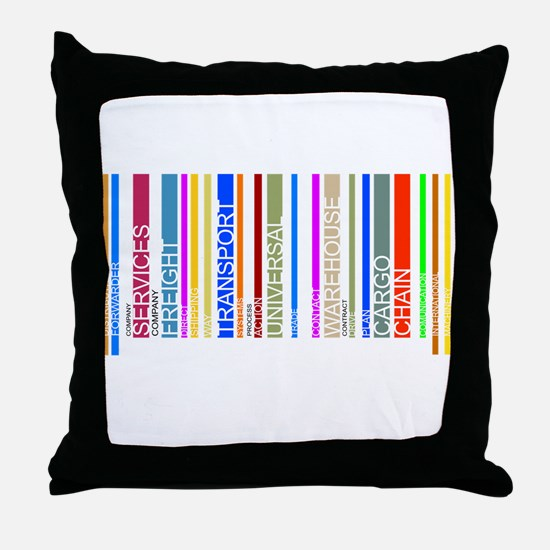 Colorful barcode graphic Throw Pillow
