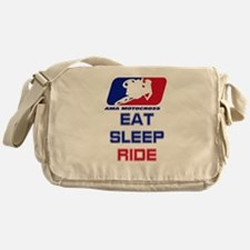eat sleep ride Messenger Bag