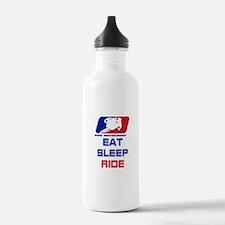 eat sleep ride Water Bottle
