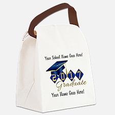 Graduate Blue 2017 Canvas Lunch Bag