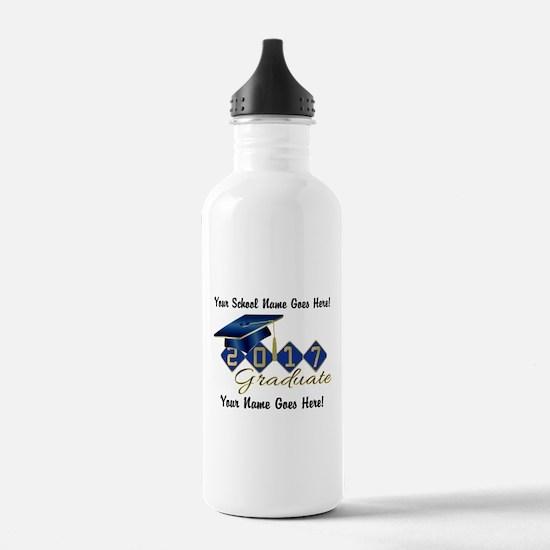 Graduate Blue 2017 Water Bottle