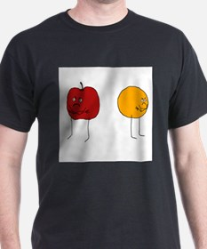 Apples and Oranges Ash Grey T-Shirt
