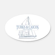 Turks and Caicos - Oval Car Magnet