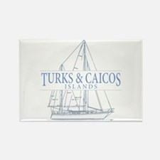 Turks and Caicos - Rectangle Magnet