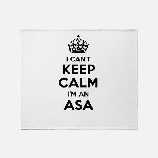 I can't keep calm Im ASA Throw Blanket