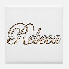 Cute Rebeca Tile Coaster