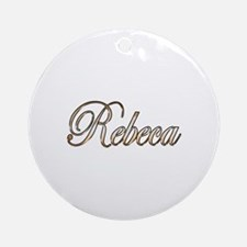 Cute Rebeca Round Ornament