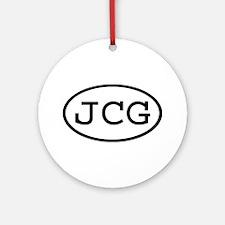 JCG Oval Ornament (Round)