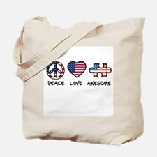 PeaceLoveAwesome Tote Bag