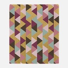Pink triangle Throw Blanket