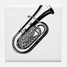 Musical instrument tuba design Tile Coaster