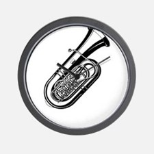 Musical instrument tuba design Wall Clock