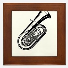Musical instrument tuba design Framed Tile