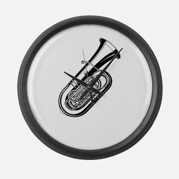 Musical instrument tuba design Large Wall Clock