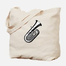 Musical instrument tuba design Tote Bag