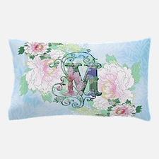 M Monogram 19th C Peonies Pillow Case