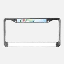 M Monogram 19th C Peonies License Plate Frame