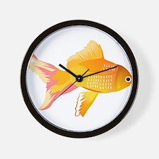 Gold Fish art Wall Clock