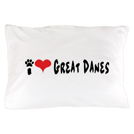 I love Great Danes. Pillow Case