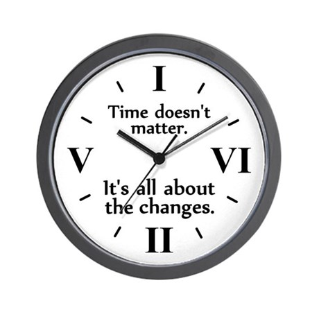 """""""Time Changes"""" Wall Clock"""
