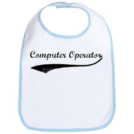 Computer Operator (vintage) Bib