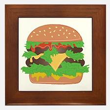 Cheeseburger Framed Tile